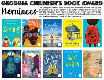 Georgia Children's Book Award Nominees Announced