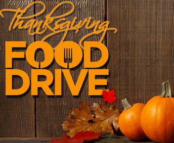 Student Council Food Drive-   November 14th - 20th