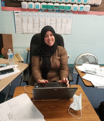 Ms. Mersch Conferencing with Aqsa Families