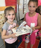Cambria and Aryana made a launch rocket.