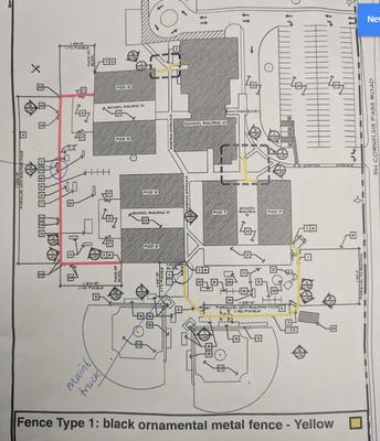 Cercado de seguridad alrededor de nuestra escuela