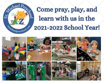 Dear St. Michael Preschool Families,