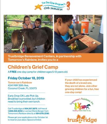 Tomorrow's Rainbow Grief Camp - October 18