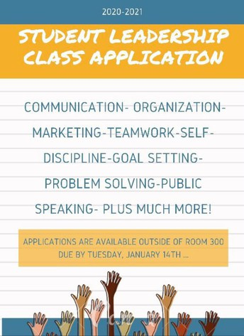 2020-2021 Student Leadership Class Applications