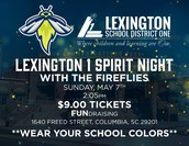 Lexington 1 Spirit Day with the Columbia Fireflies