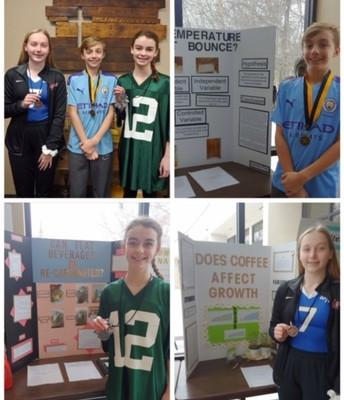 8th grade Science Fair Winners