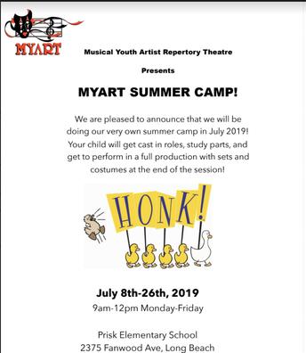 MyArt Summer Camp @ Prisk!