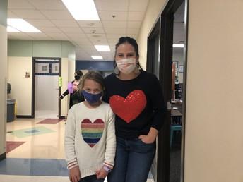 Celebrating February with Heart Sweatshirts!