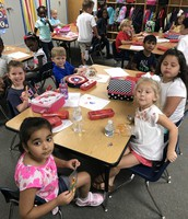 Enjoying snack on the first day!