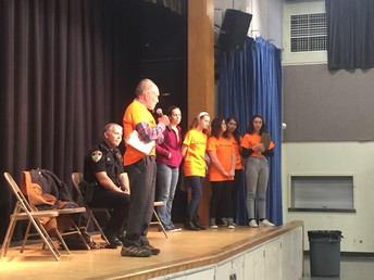 Professor Michael Nagler speaks to the students