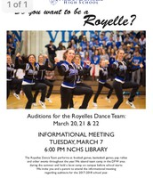 Auditions for the Royelles Dance Team
