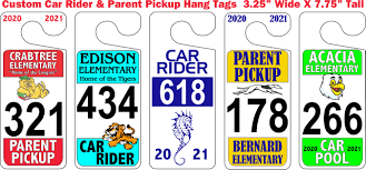 Car Riders in the afternoon  & Car Tags