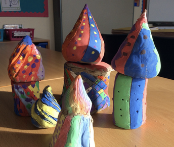Clay models in Year 5