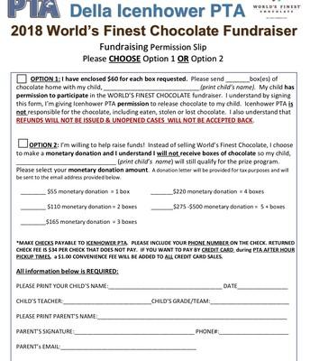 PTA World's Finest Chocolate Fundraiser