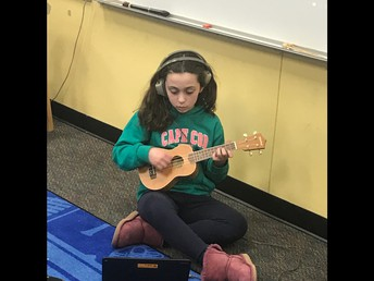 """I can listen and watch an online tutorial and guide my own learning to play the Ukulele"""