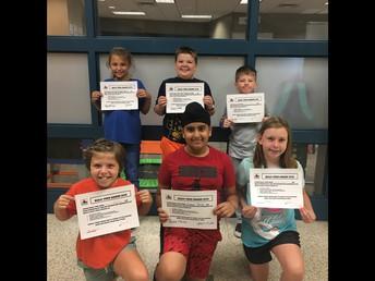 Fourth Grade Bully Free Winners!