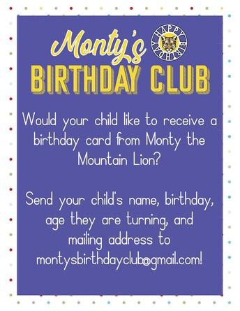 Monty's Birthday Club