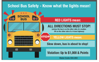 Do You Know What the Lights on the Bus Mean?