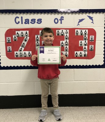 Congrats to Reef Butts, Top Reading Score, iReady Diagnostic, Mrs. Crawford's Class
