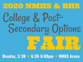 ALL GRADES: College & Post-Secondary Options Fair 3/30