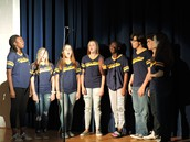 Gold'n'Blues Sang the National Anthem