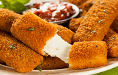 Mozzarella sticks might taste amazing but they are full of gluten!