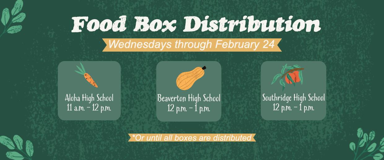 Food box distribution graphic