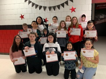 6th Grade Students of the Month - December