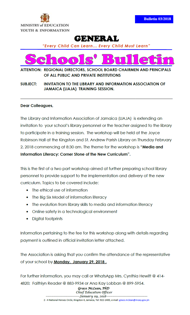 Liaja schools section presents smore newsletters for education big image stopboris Choice Image