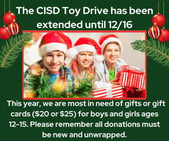 Toy Drive Extended to December 16th