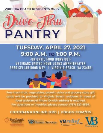Drive Through Food Distribution  - April 27