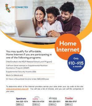 Home internet flyer