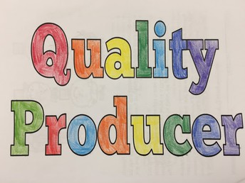 """Our IB learner profile attribute when we return in person is """"quality producer""""."""