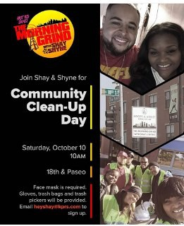 Community Clean Up Day with Northeast HS Students