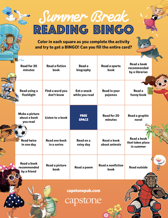 Summer Break Reading Bingo