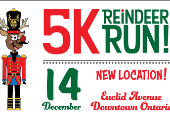"""Inscríbase hoy a la caminata """"Reindeer Run"""" y a la carrera """"Rudolph's Dash"""" y ayúdele a nuestra escuela a ganar $1 000 dólares."""