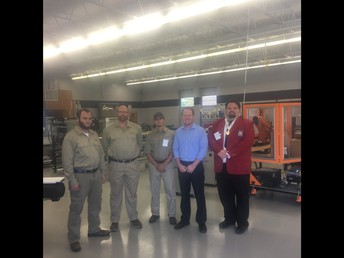 Mr. Taylor with students who competed @ SkillsUSA