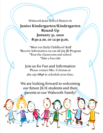 Junior Kindergarten & Kindergarten Round-Up