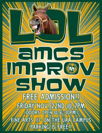 POSTPONED until January!! LOL AMCS Improv Show
