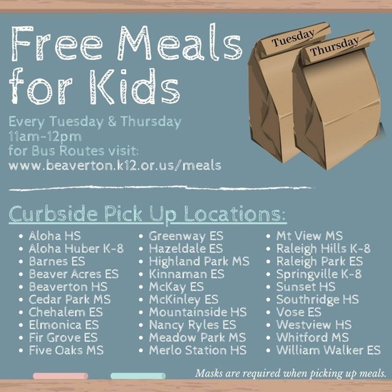 Free Meals for Kids graphic