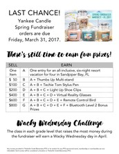 LAST CHANCE: Yankee Candle Spring Fundraiser - March 31, 2017!