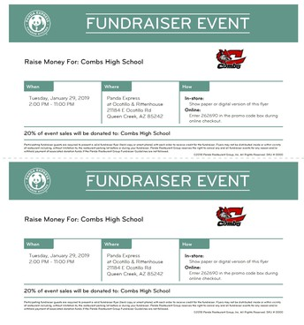 CHS STUDENT COUNCIL FAMILY NIGHT AT PANDA EXPRESS