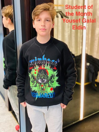 Student of the Month - Yousef Galal Eldin