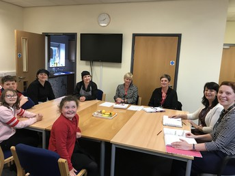 The School Council meeting Catering Staff