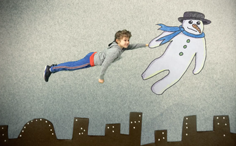 Flying with Your Snowman