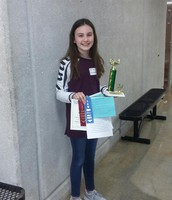 2nd Place at the area wide Spelling Bee during the Language Arts Fair - Marley!!